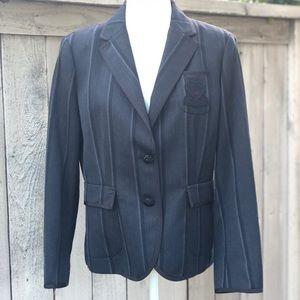 Coach Poppy Gray Black Jacket